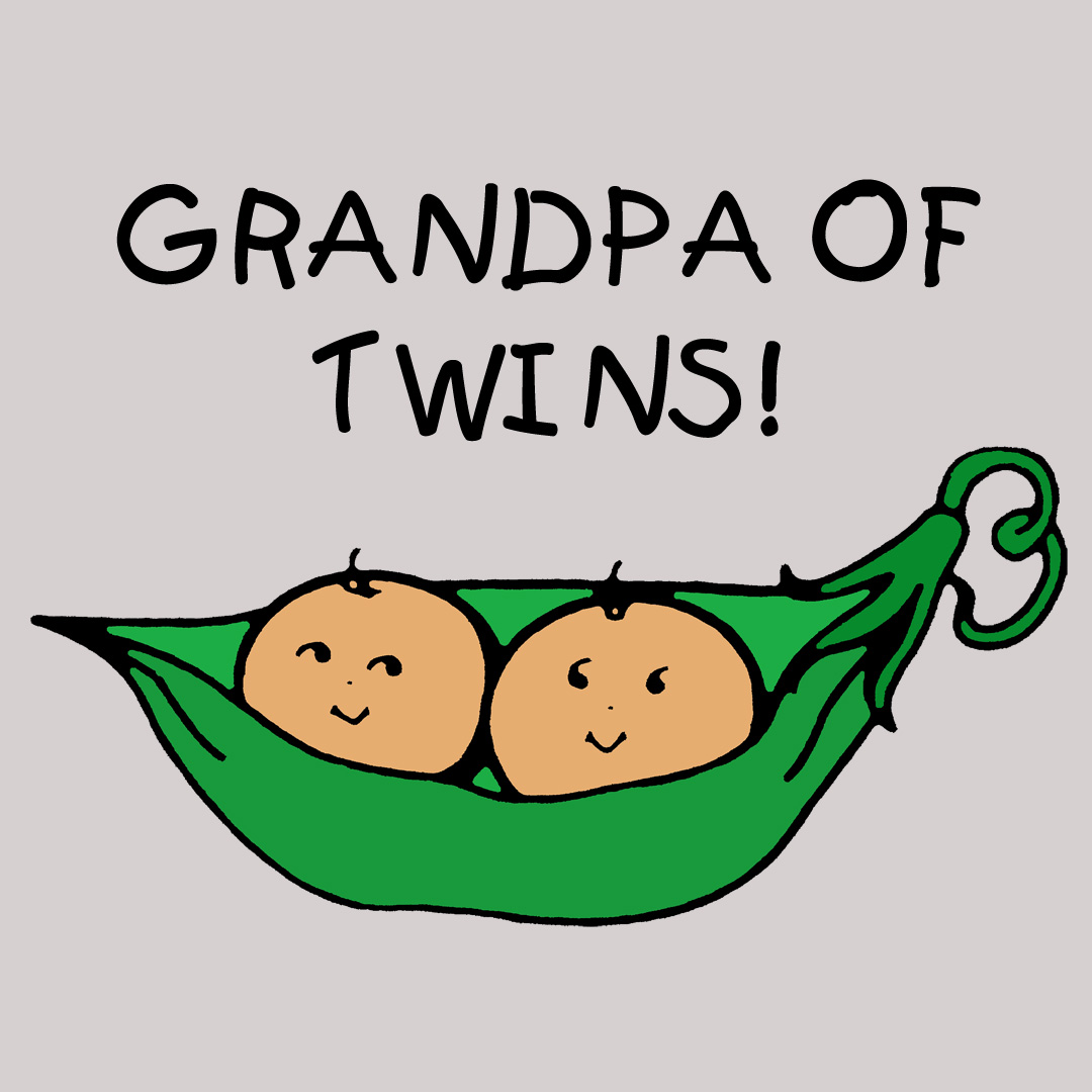 Grandfather of Twins Tees