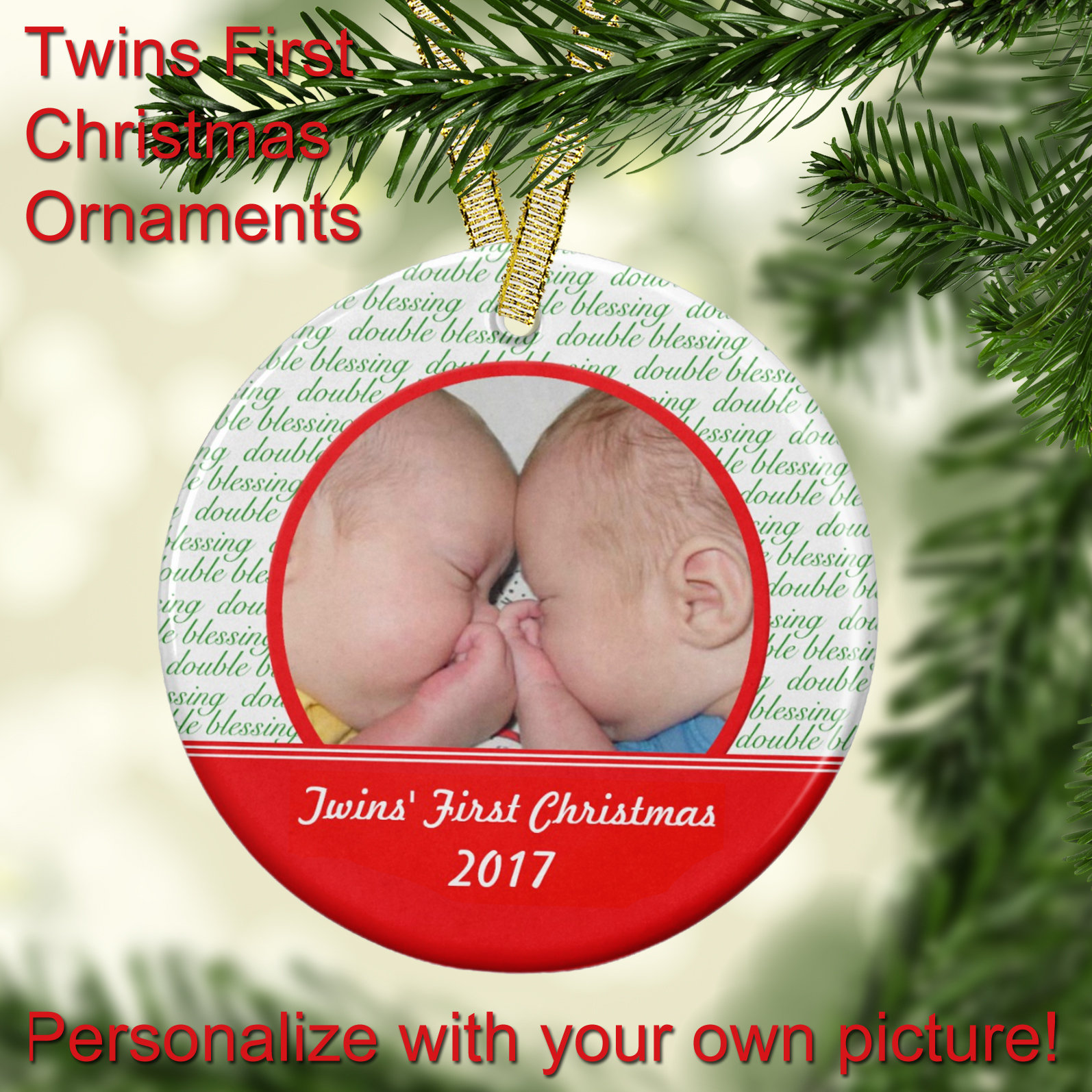 Twins Christmas Ornaments