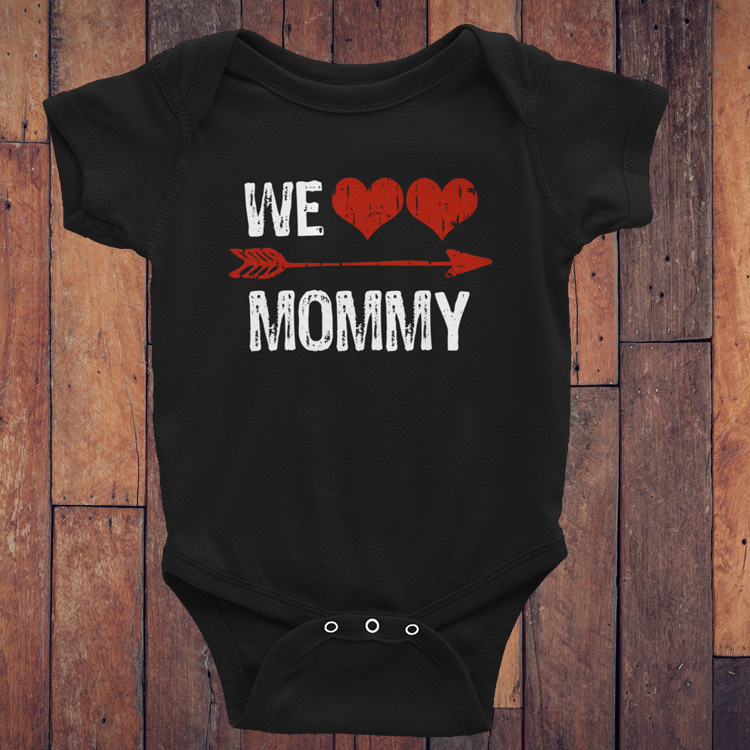 We Heart Mommy Twin Valentine S Day Onesie Scrappin Twins